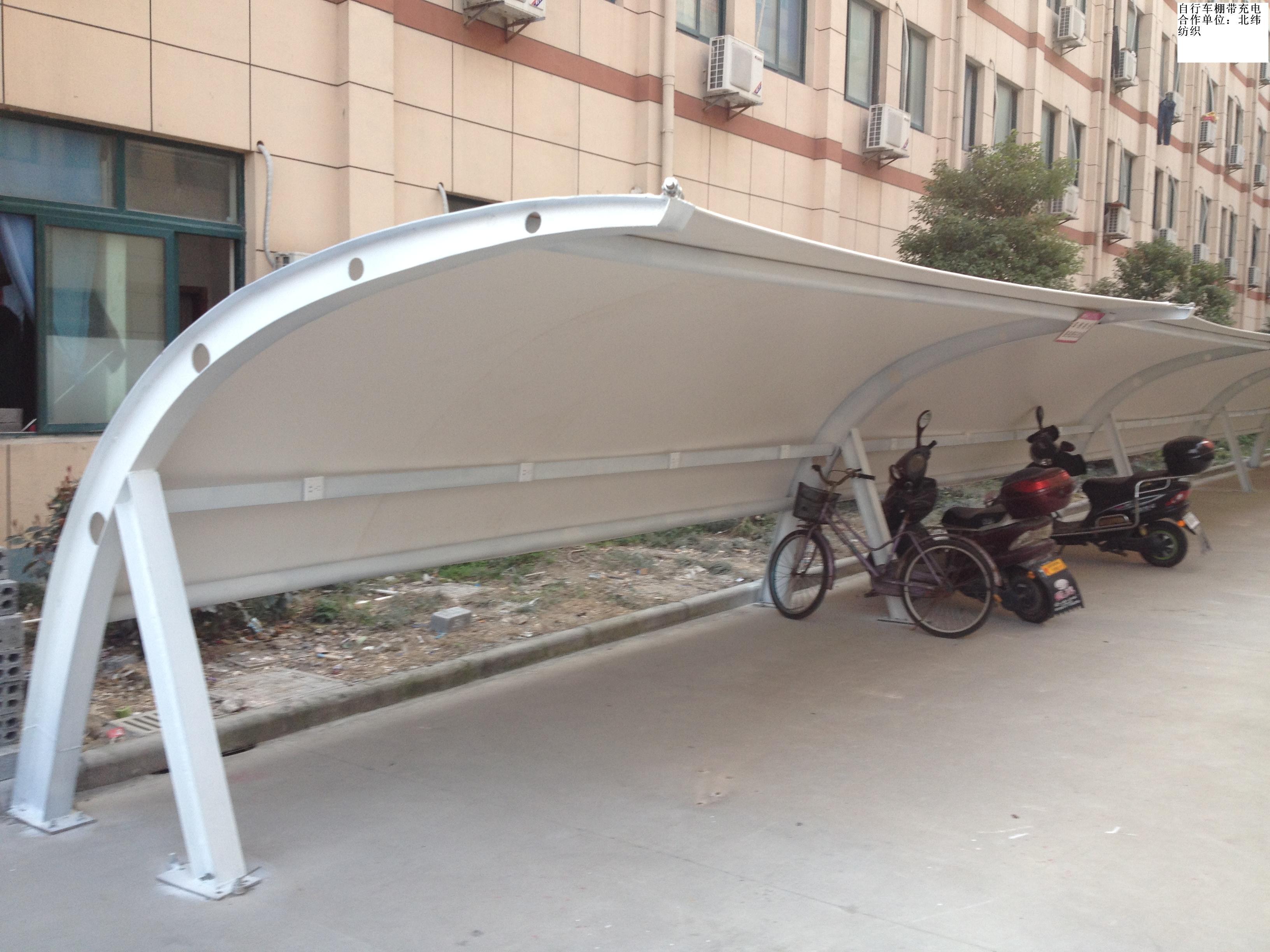 台州膜结构自行车棚价格