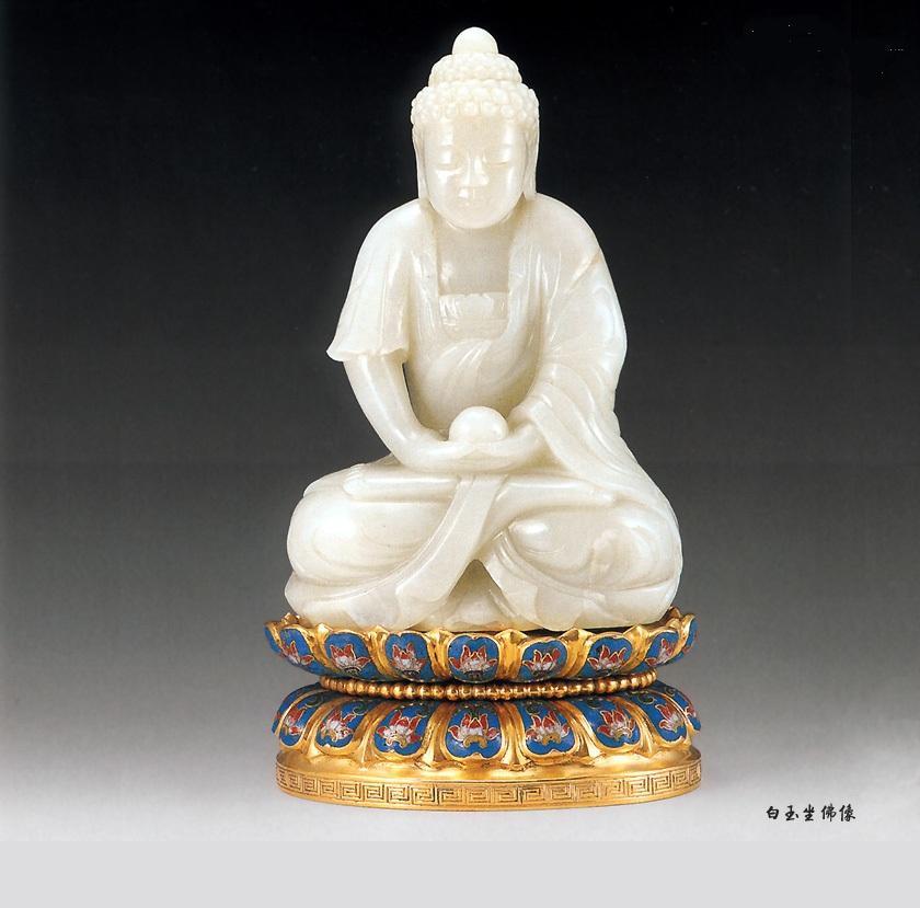 供應和田玉-白玉佛像