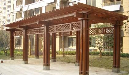 防腐木廊架直销/防腐木廊架设计制造一体化/凯奇供