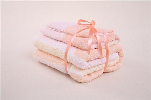 舒舒井字格彩帶套巾*優質全棉禮品毛浴巾商家*理匯供