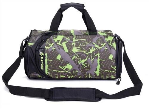 定做fzlg077单肩包圆桶包旅行包运动背包男女健身包