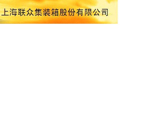 上海聯眾集裝箱股份有限公司