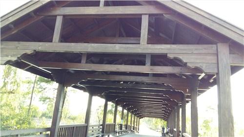 公园景观木制长廊定做*别墅花园景观木桥建造*御悦供
