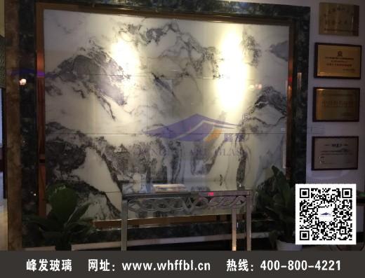 武汉艺术背景墙/彩釉玻璃 5mm彩釉玻璃+夹胶玻璃