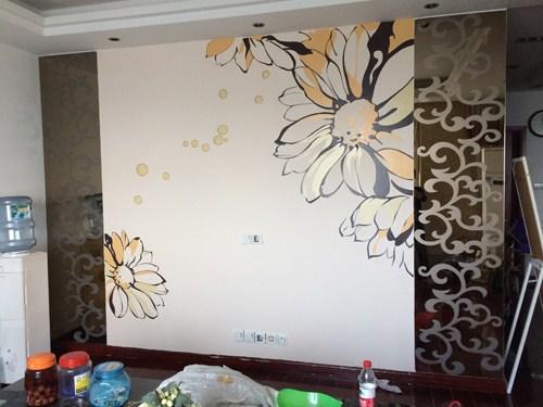 客厅墙画手绘