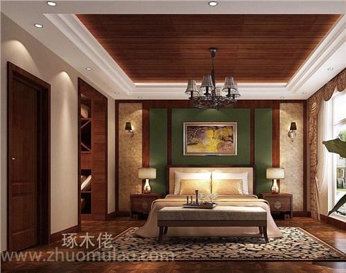 客厅电视背景墙效果图美式护墙板 琢木佬固装家具